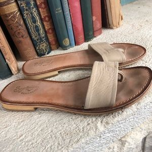 Seychelles Weekender flats leather brown tan size7